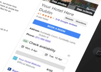 Google hotel ads on iPad