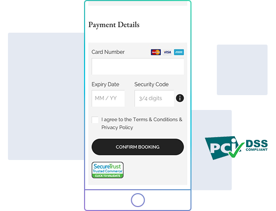 secure payment booking engine
