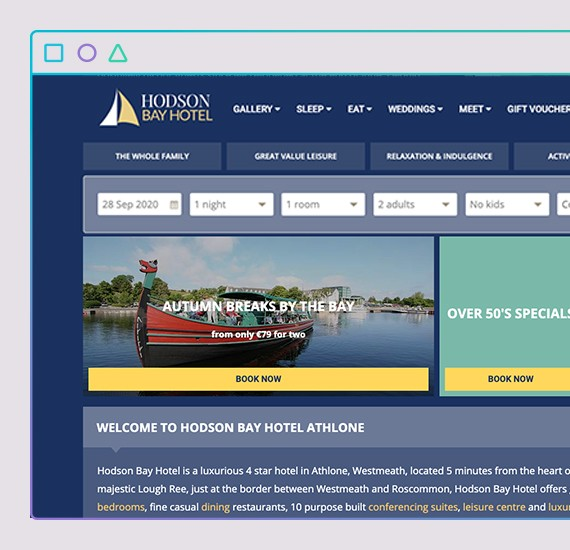 hodson bay website design